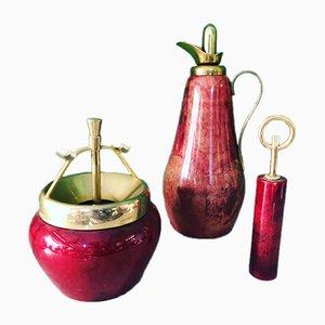 Vintage Thermos, Aschenbecher & Flaschenöffner von Aldo Tura