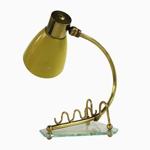 Vintage Yellow Table Lamp, 1950s