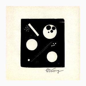 Holzschnitt Druck von Edmund Kesting für Panderma, 1977