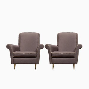 Italian Armchairs by Isa Bergamo, 1950s, Set of 2