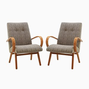 Bugholz Sessel von Jitona, 1960er, 2er Set