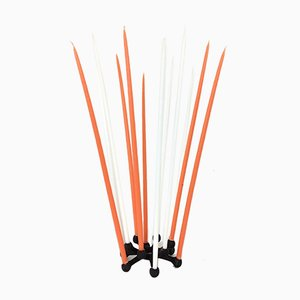 Danish Spider Candelabra with Candles by Jens Quistgaard for Dansk Design, 1960s
