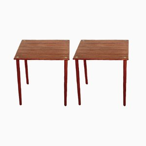 Tavolini Mid-Century in teak di Georges Petersens per GP Farum, anni '60, set di 2