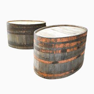 French Wine Barrels, 1920s, Set of 2
