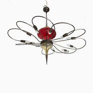 Italian Murano Glass 12-Arm Chandelier, 1980s