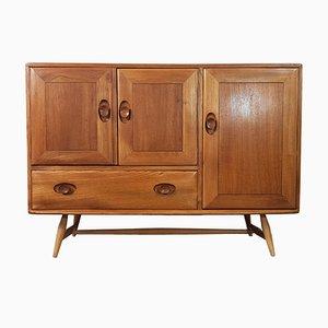 No, 4 Ulmenholz Sideboard mit Buchenholz Beinen von Lucian Ercolani für Ercol, 1960er