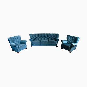 Juego de sofá y butacas, años 70
