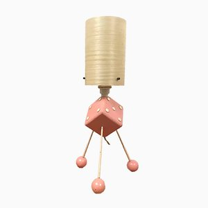 Mid-Century Rockabilly Dice Tripod Table Lamp
