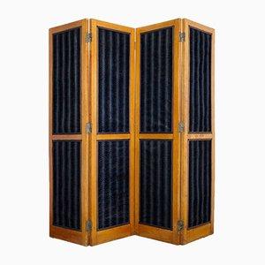 Biedermeier Raumteiler mit schwarzem Samt, 1840er