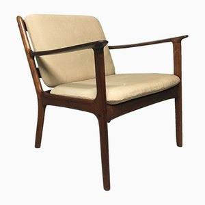 Mid-Century PJ112 Rosewood Lounge Chair by Ole Wanscher for P. Jeppesens, 1960s