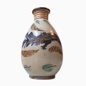 jarrón Dragon de cerámica de Terra Danica, años 50