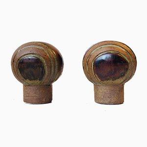 Jarrones en forma de hongo de Aage Würtz para Würtz Studio, años 70. Juego de 2
