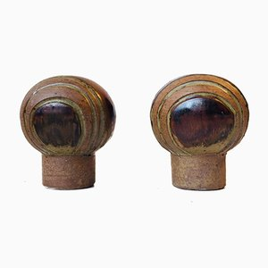 Vasi a forma di fungo di Aage Würtz per Würtz Studio, anni '70, set di 2