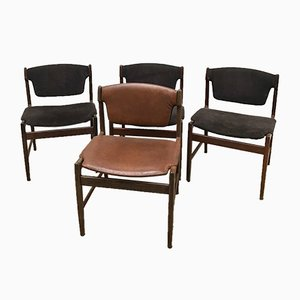 Model 4510 Dining Chairs by Ib Kofod Larsen for G-Plan, 1960s, Set of 4