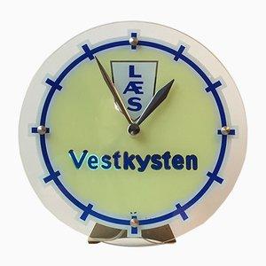 Beleuchtete Uhr von Halux, 1950er