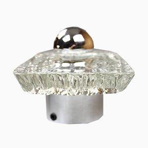 Vintage Eisglas Wandlampen von Peill & Putzler, 2er Set