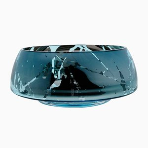 DECO Jazz Large Teal Splashed Bowl by Artis Nimanis for an&angel