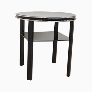 Vintage Black Side Table, 1930s