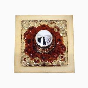 Lampada da parete in vetro di Murano di Gaetano Sciolari per Mazzega, anni '60