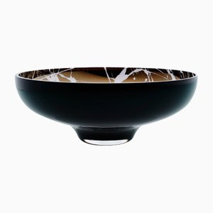 TITAN Large Black Splashed Bowl by Artis Nimanis for an&angel