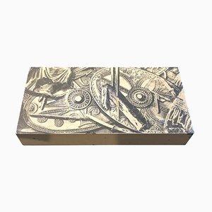 Caja de cigarrillos italiana de Piero Fornasetti para Atelier Fornasetti, 1950
