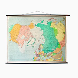 Vintage School Map of the North Pole by Justus Perthes for Stritt & Co