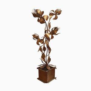 Lampada da terra floreale di Hans Kogl, anni '70
