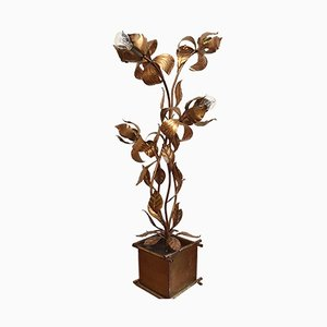 Lámpara de pie en forma de flor de Hans Kögl, años 70