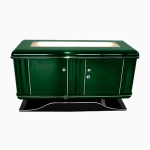 Illuminated Jaguar Green Dresser, 1920s