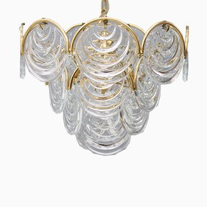 Brass & Glass Chandelier, 1960s
