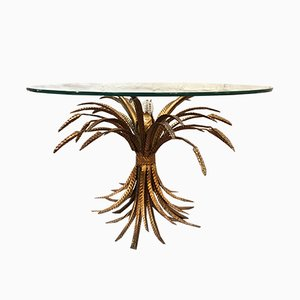 Italian Wheat Sheaf Table with Light, 1950s