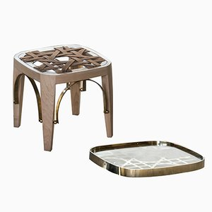 Khayzaran/Fairuz Stool & Tray by Richard Yasmine