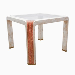 Tessellated Fossil Stone Side Table by Robert Marcius for Casa Bique, 1980s