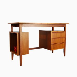 Vintage Teak Veneered Desk, 1960s