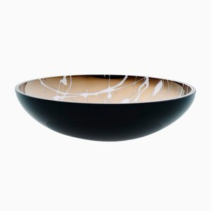 TITAN Flat Black Splashed Bowl by Artis Nimanis for an&angel