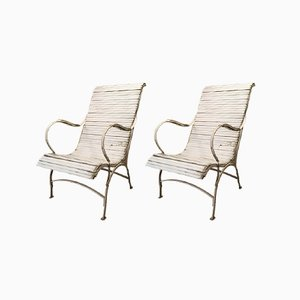 Garden or Pool Chairs, 1920s, Set of 2