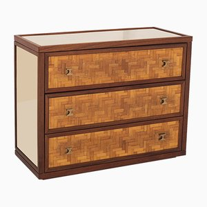 Hollywood Regency Messing & Teak Sideboard