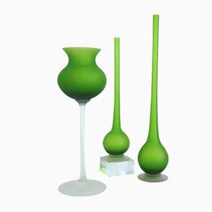 Vasi in vetro satinato di Carlo Moretti, anni '60, set di 3