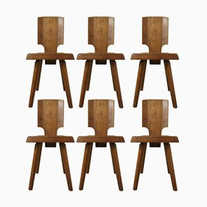 S28 Chairs by Pierre Chapo for Seltz, 1970s, Set of 6