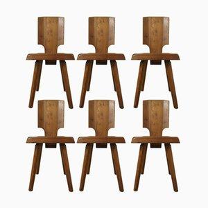 S28 Stühle von Pierre Chapo für Seltz, 1970er, 6er Set