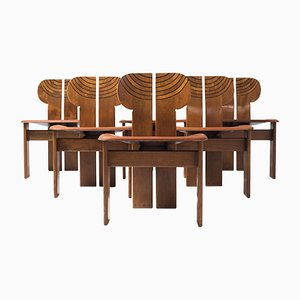 Africa Chairs by Tobia & Afra Scarpa for B&B Italia, 1970s, Set of 6
