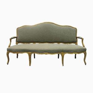 Antikes französisches vergoldetes Sofa