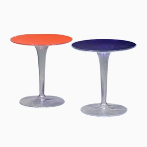 Tables d'Appoint Tulipes en Acrylique Transparent, 1970s, Set de 2