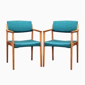 Mid-Century Armlehnstühle von H. W. Klein für Bramin, 1960er, 2er Set