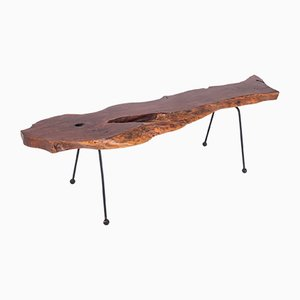 Wabi-Sabi Style Organic Walnut Coffee Table, 1960s