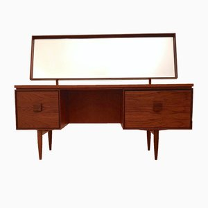 Large Mid-Century Teak & Palisander Desk & Dressing Table by Ib Kofod-Larsen for G-Plan, 1960s