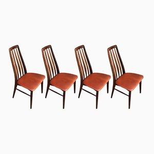 Eva Dining Chairs by Niels Koefoed for Hornslet Møbelfabrik, 1954, Set of 4