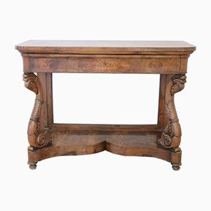 Charles X Console In Inlaid Walnut, 1830s