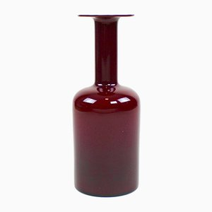 Bordeaux Red Vintage Vase by Otto Brauer for Holmegaard