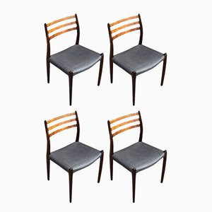 Model 78 Rosewood Dining Chairs by Niels O Møller for J.L. Møllers, Set of 4